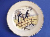 Rare Royal Doulton Daily Mirror 'Pip, Squeak and Wilfred' Child's Dinner Plate c1929